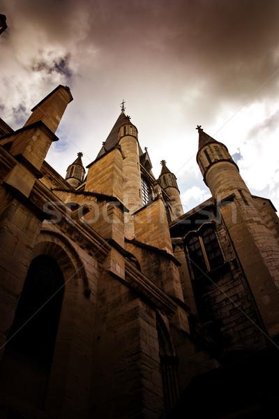 church in dijon city france Stock photo © chrisroll