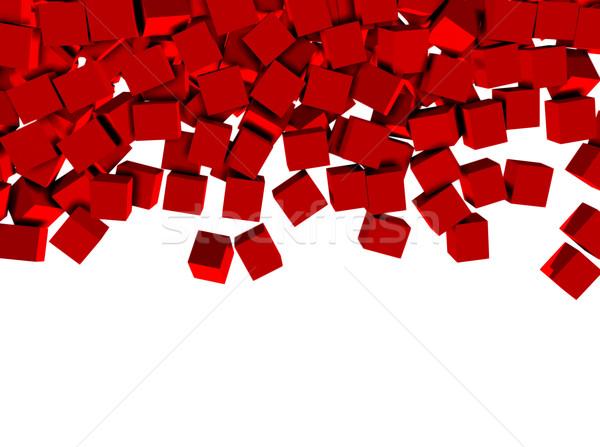 Zdjęcia stock: 3D · odizolowany · biały · czerwony · sztuki