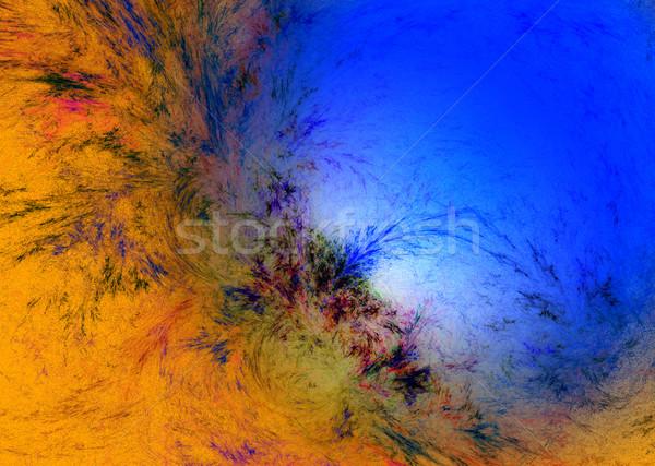 Absztrakt fény festék üveg háttér kék Stock fotó © chrisroll