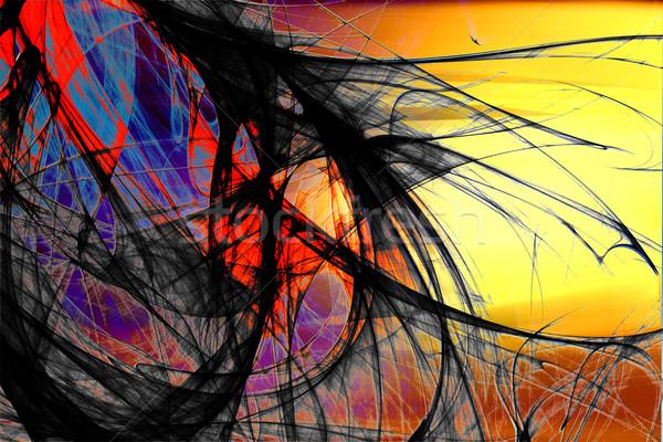 Absztrakt futurisztikus fraktál fény festék üveg Stock fotó © chrisroll