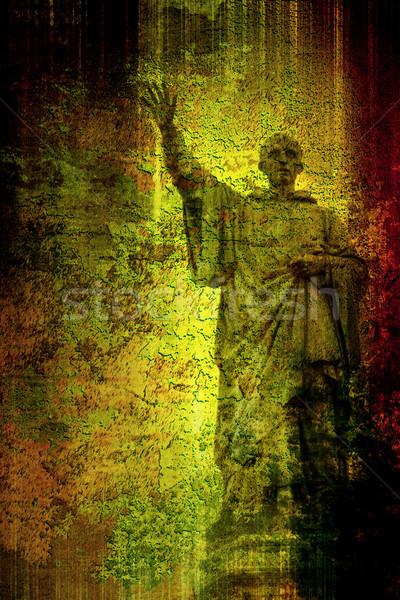 Stock fotó: Absztrakt · textúra · tűz · fal · háttér · művészet
