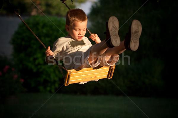 child on swing Stock photo © chrisroll