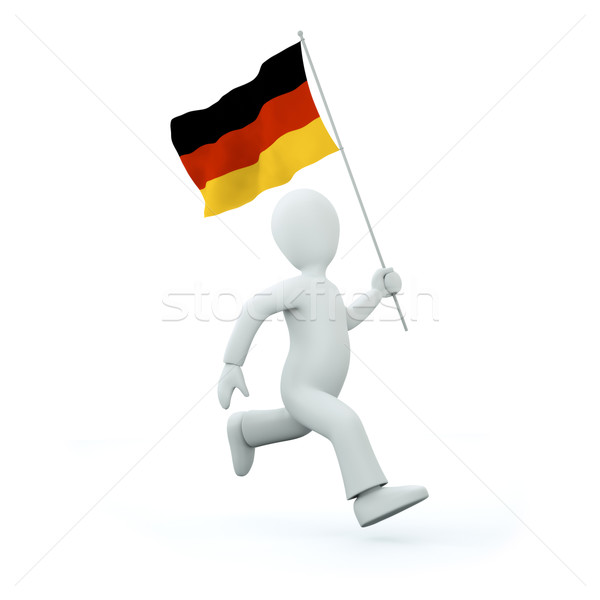 Holding a deutschland flag Stock photo © chrisroll