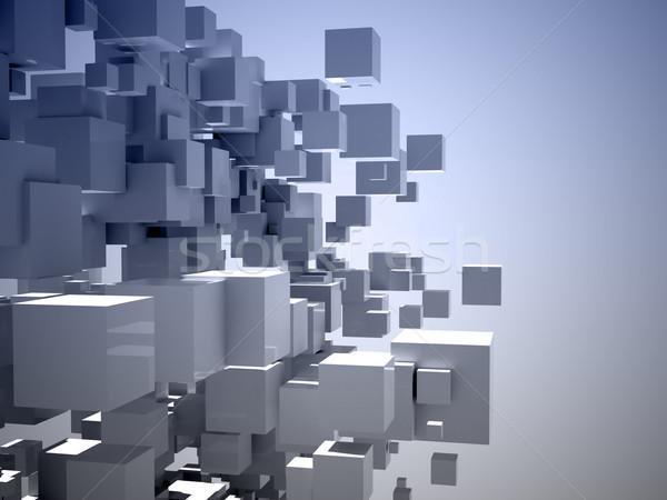 építészeti terv absztrakt struktúra 3D kép Stock fotó © chrisroll