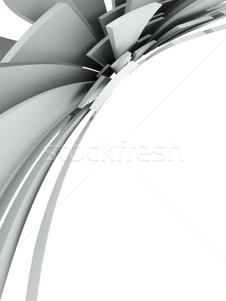 3D streszczenie architektoniczny projektu metal sztuki Zdjęcia stock © chrisroll