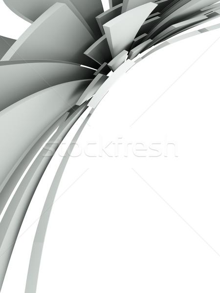 3D résumé architectural design métal art Photo stock © chrisroll