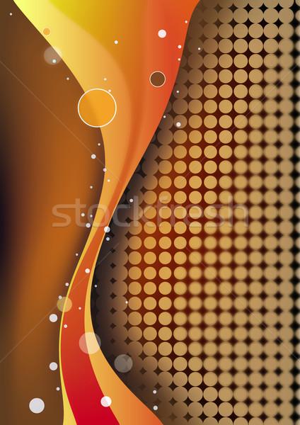 Absztrakt hullámok halftone textúra fény festék Stock fotó © chrisroll