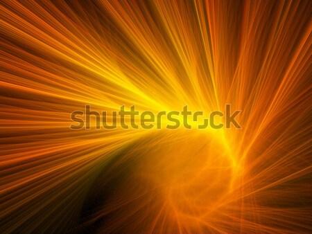 Spirale feu résumé futuriste fractal texture Photo stock © chrisroll