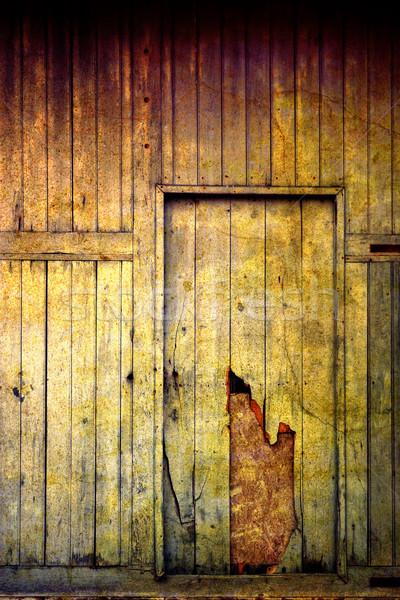 Stok fotoğraf: Eski · ev · ışık · kapı · boyama · bağbozumu · kir