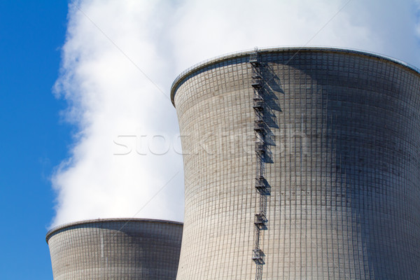 Nucleare due fumo industria fabbrica Foto d'archivio © chrisroll