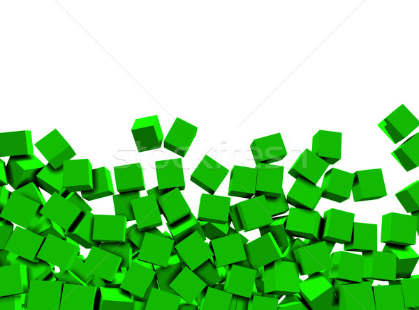 Zdjęcia stock: 3D · zielone · biały · odizolowany · sztuki