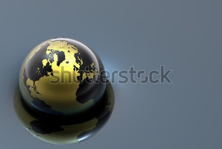 3D metal globo preto terreno Foto stock © chrisroll