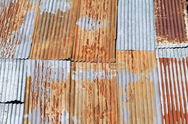 Foto stock: Edad · metal · techo · fondo · naranja · industria