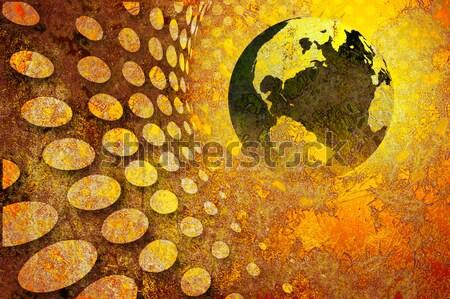 Globalne ocieplenie tekstury świetle tle ziemi sztuki Zdjęcia stock © chrisroll