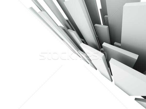 ストックフォト: 3D · 抽象的な · 建築の · デザイン · 金属 · 芸術