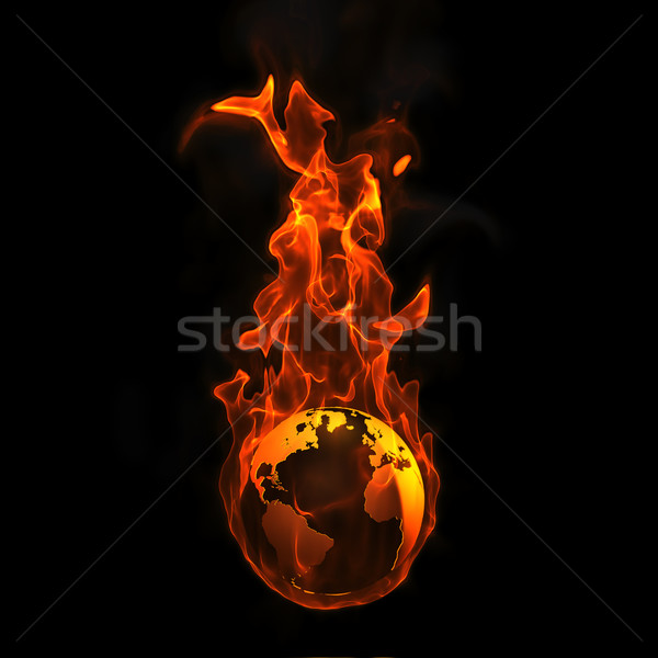 Earth on fire Stock photo © chrisroll