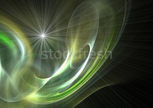 Absztrakt futurisztikus fraktál illusztráció fény festék Stock fotó © chrisroll