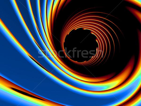 Absztrakt 3D örvény textúra fény festék Stock fotó © chrisroll