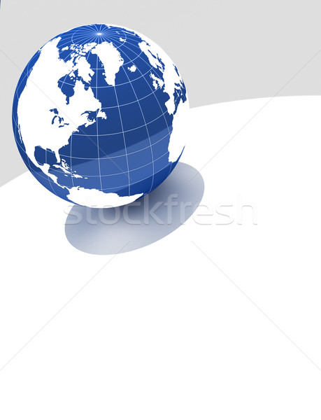3d blue globe on white background Stock photo © chrisroll