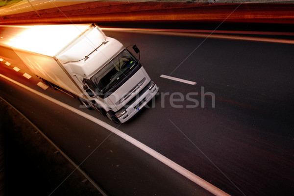 Stock photo: truck on highway