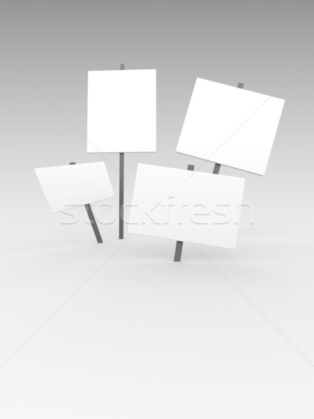 3d blank notices Stock photo © chrisroll