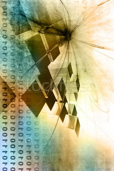 グランジ 3D 建築の 構造 抽象的な 光 ストックフォト © chrisroll