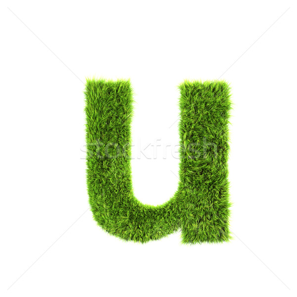 3d grass letter isolated on white background - u Stock photo © chrisroll