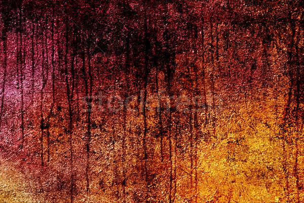 Stock fotó: Grunge · textúra · fal · fény · művészet · narancs