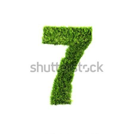 3D hierba dígito aislado blanco textura Foto stock © chrisroll