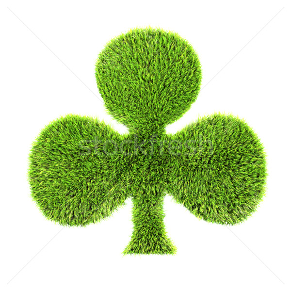 3d grass club isolated on a white background Stock photo © chrisroll