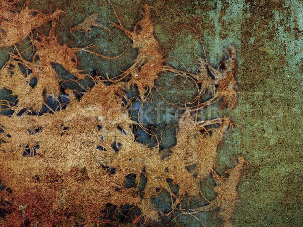 Grunge tekstury streszczenie metal sztuki retro vintage Zdjęcia stock © chrisroll