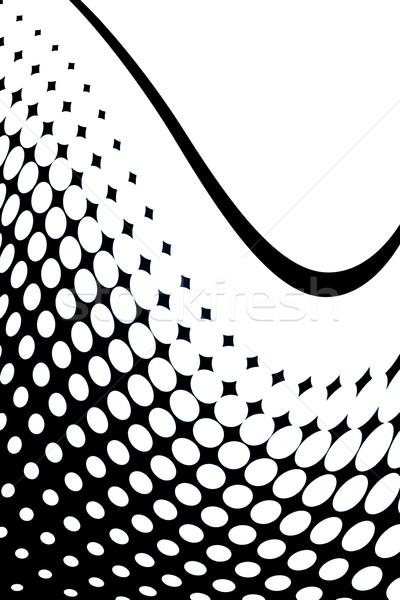 Absztrakt hullámos halftone festék háttér sebesség Stock fotó © chrisroll