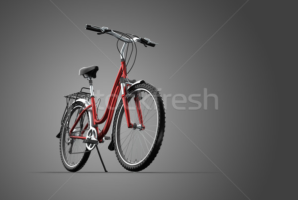 3D mountain bike cinza fundo quadro bicicleta Foto stock © chrisroll
