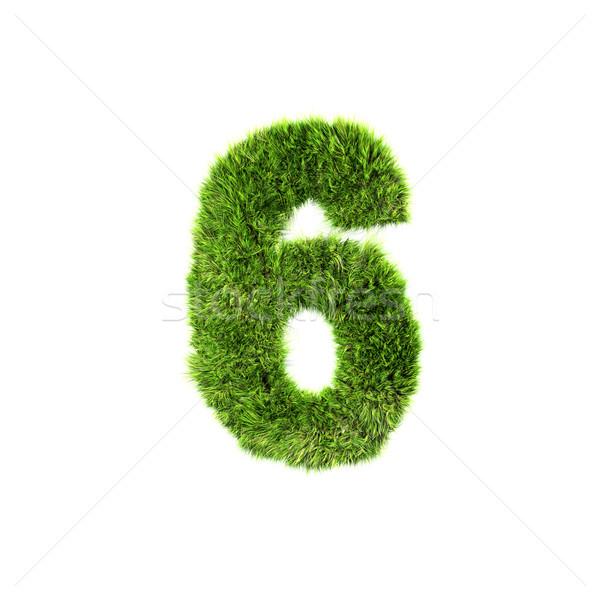 3D trawy cyfra odizolowany biały tekstury Zdjęcia stock © chrisroll