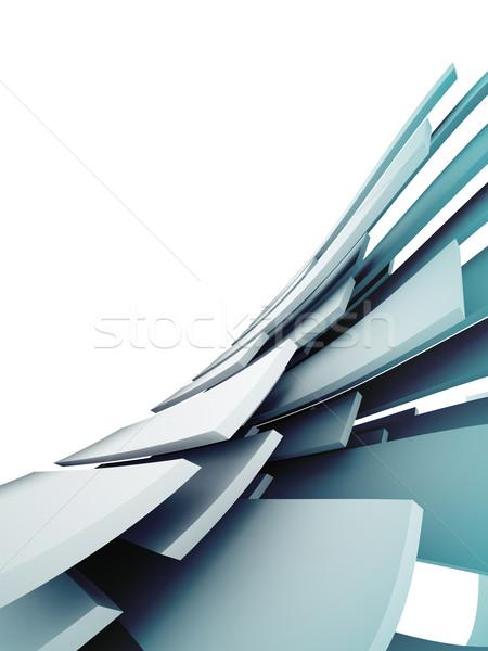 Abstract bouwkundig ontwerp gebouw metaal kunst Stockfoto © chrisroll
