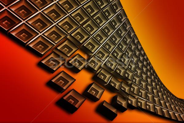 グランジ 背景 芸術 オレンジ 科学 赤 ストックフォト © chrisroll
