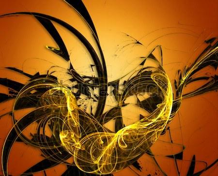 Abstrato luz projeto pintar fundo laranja Foto stock © chrisroll