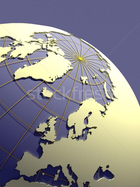 3D 地球 青 大陸 3次元の図 ビジネス ストックフォト © chrisroll