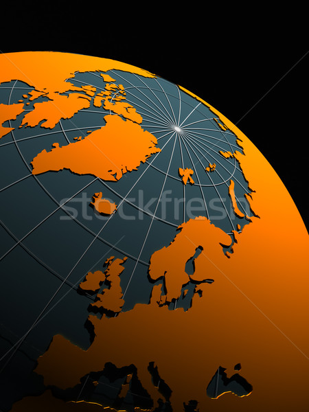 3d earth isolated on white background Stock photo © chrisroll
