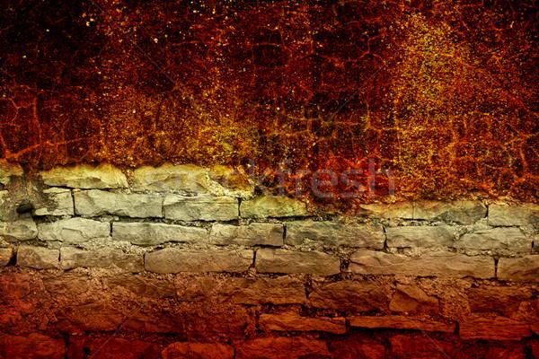 An old stone wall texture Stock photo © chrisroll