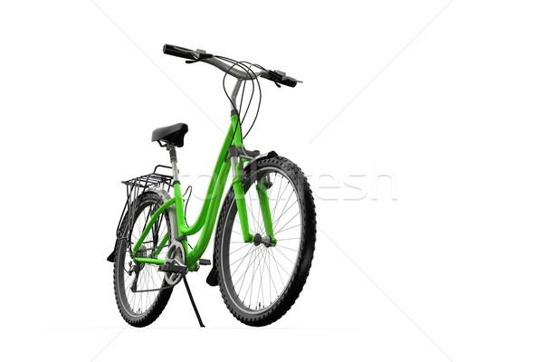 Stock photo: 3D mountain bike on a white background