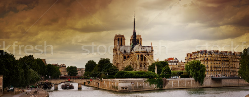 Notre Dame Cathedral In Paris, France Stock photo © chrisroll