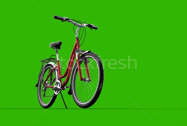 3D mountain bike on greenbackground Stock photo © chrisroll
