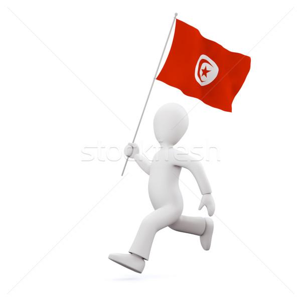 Holding a tunisian flag Stock photo © chrisroll