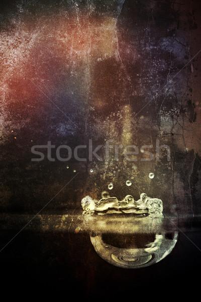 グランジ テクスチャ 壁 光 赤 レトロな ストックフォト © chrisroll