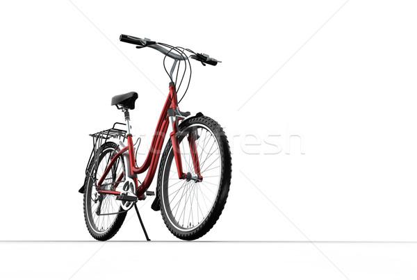 3D dağ bisikleti gri arka plan çerçeve bisiklet Stok fotoğraf © chrisroll