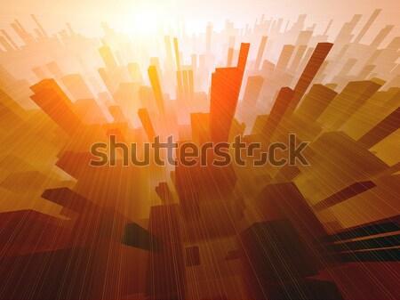 建築の デザイン 太陽 日の出 速度 黒 ストックフォト © chrisroll