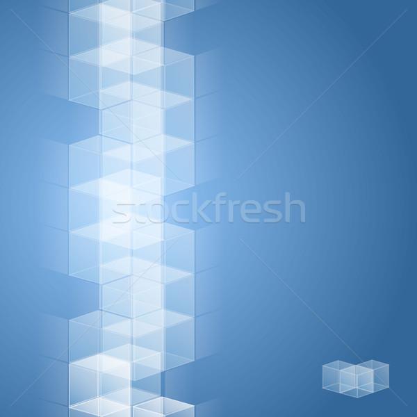 Cubes cube design résumé technologie web Photo stock © christopherhall