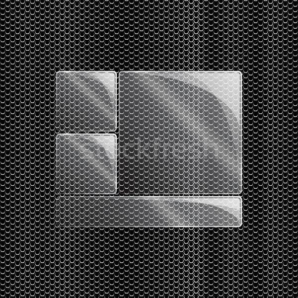 Verre métal illustration eps10 format utilisé Photo stock © christopherhall