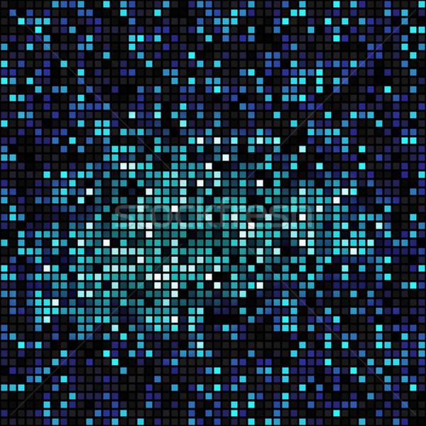 Bleu carré design eps10 format utilisé Photo stock © christopherhall